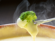 Brocolli Dipped in Cheese
