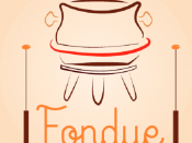 Fondue Pot with Sticks