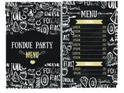 Fondue Party Menu